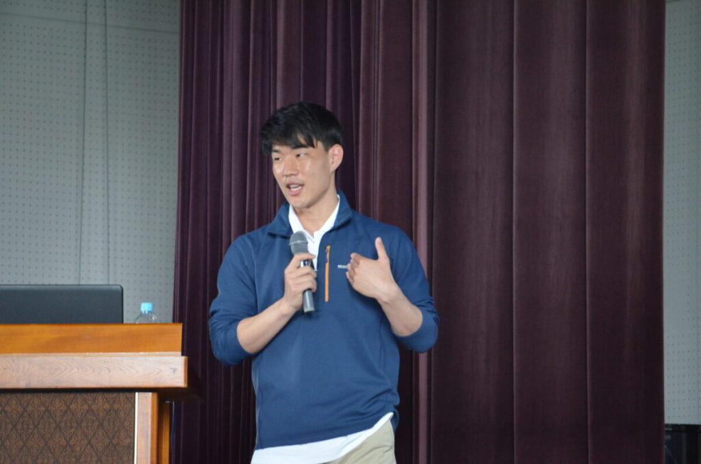 講師を務めた卒業生の近藤耕平さん